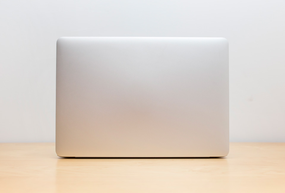 Front view laptop
